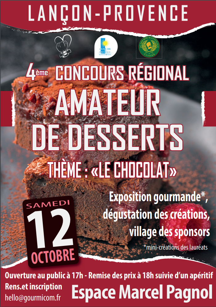 4e Concours amateur de desserts de Lançon-Provence - Gourmicom
