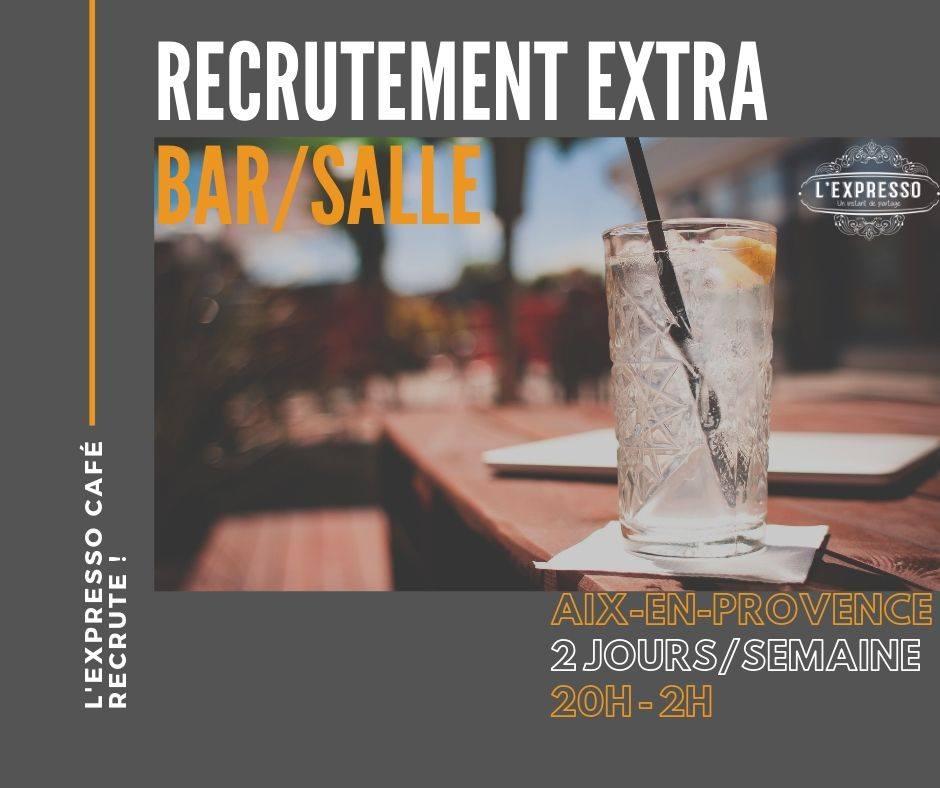L'EXPRESSO CAFÉ RECRUTE !  2 postes à pourvoir > Barmaid/Salle en extra