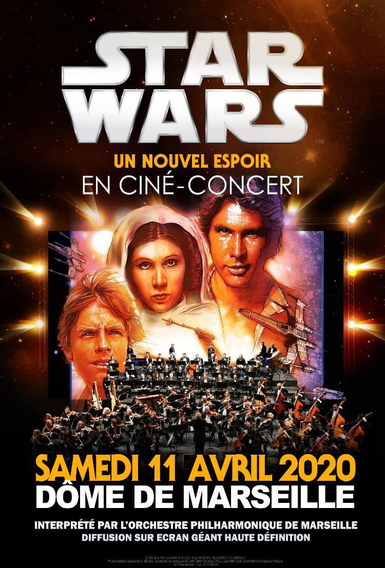 STAR WARS in concert Dôme de Marseille La plus célèbre saga cinématographique de...